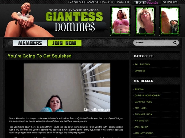 Access Giantess Dommes Free