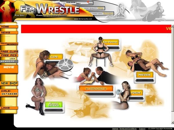 Fem Wrestle Login Codes
