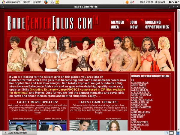 Free Account Of Babecenterfolds.com