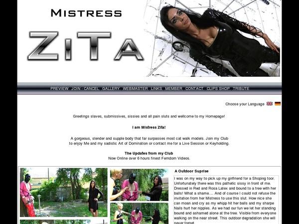 Mistress Zita Parola D'ordine