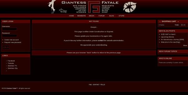 New Free Giantess Fatale Account