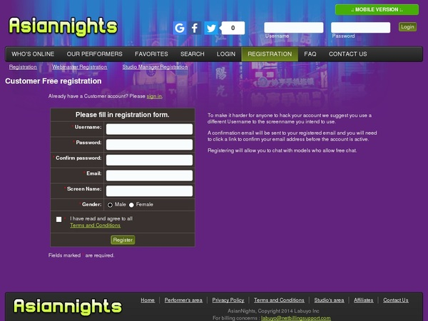 Asian Nights Network