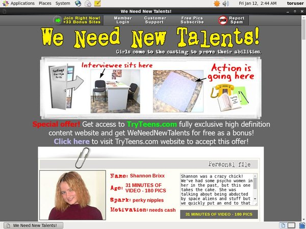 We Need New Talents Bankeinzug